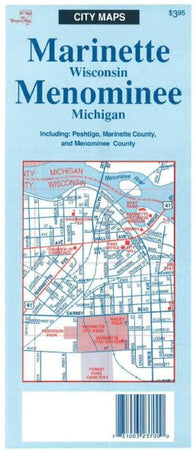 Buy map Marinette-Menominee,WI by The Seeger Map Company Inc.