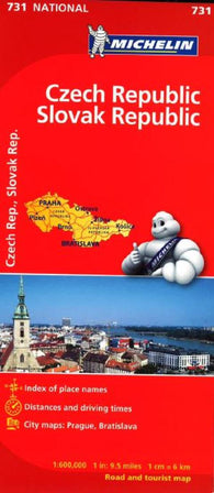 Buy map Czech and Slovak Republics (731) by Michelin Maps and Guides