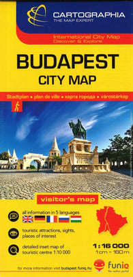 Buy map Budapest, Hungary, City Center by Cartographia