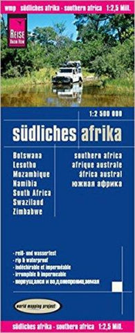 Buy map Africa, Southern (Botswana, Lesotho, Mozambique, Namibia, South Africa, Swaziland, Zimbabwe) by Reise Know-How Verlag