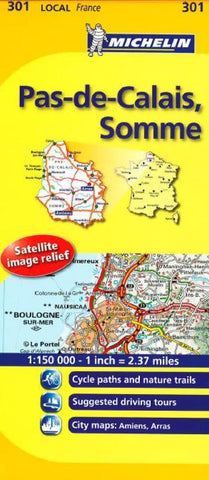 Buy map Pas-de-Calais, Somme (301) by Michelin Maps and Guides