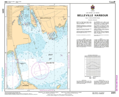 Buy map Belleville Harbour by Canadian Hydrographic Service