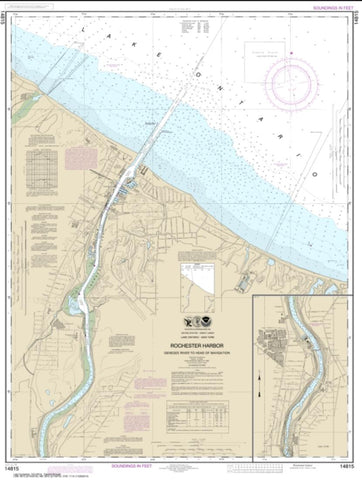 Buy map Rochester Harbor, including Genessee River to head of navigation (14815-24) by NOAA