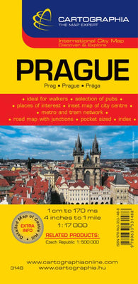 Buy map Prague, Czech Republic by Cartographia