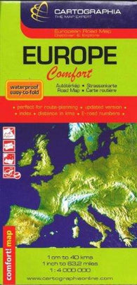 Buy map Europe Comfort Map by Cartographia