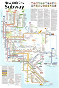 Buy map New York City Subway Poster by Tauranac Press