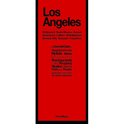 Buy map Los Angeles, CA: Hollywood Santa Monica Sunset : Downtown La Brea W. Hollywood : Beverly Hills Burbank Pasadena by Red Maps