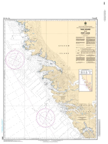 Buy map Tasu Sound to/a Port Louis by Canadian Hydrographic Service