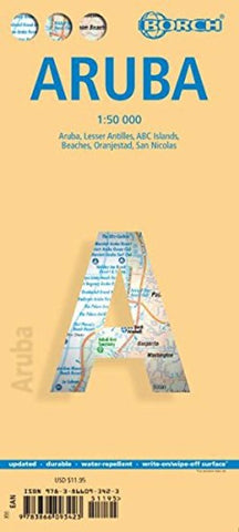 Buy map Aruba, Oranjestad and San Nicolas by Borch GmbH.