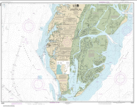 Buy map Chesapeake Bay Cape Charles to Wolf Trap (12224-26) by NOAA