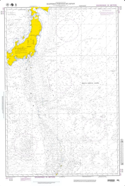 Buy map Eastern Portion Of Japan (NGA-510-3) by National Geospatial-Intelligence Agency