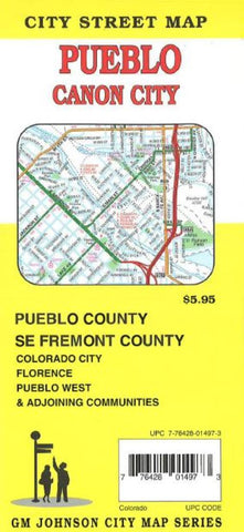 Buy map Pueblo and Canon City, Colorado by GM Johnson