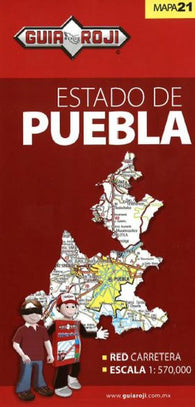 Buy map Puebla, Mexico, State Map by Guia Roji