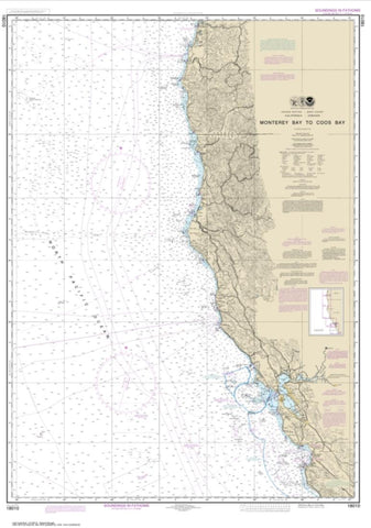 Buy map Monterey Bay to Coos Bay (18010-22) by NOAA
