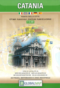 Buy map Catania, Italy by Litografia Artistica Cartografica