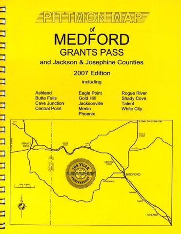 Buy map Medford and Grants Pass, Oregon Atlas by Pittmon Map Company
