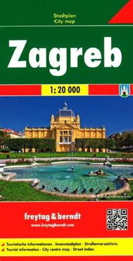 Buy map Zagreb, Croatia by Freytag-Berndt und Artaria