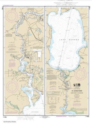 Buy map St. Johns River Dunns Creek to Lake Dexter (11495-17) by NOAA