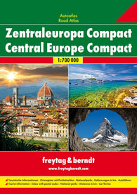 Buy map Central Europe, Compact Road Atlas, softcover by Freytag-Berndt und Artaria