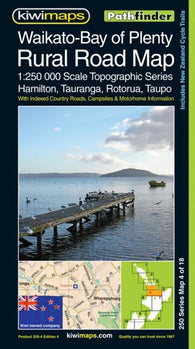 Buy map Waikato-Bay Of Plenty, New Zealand, Rural Roads Topographic Map by Kiwi Maps