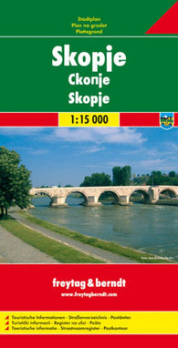 Buy map Skopje, Macedonia by Freytag-Berndt und Artaria
