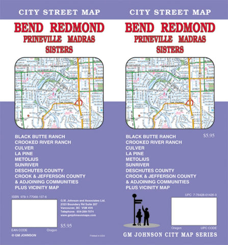 Buy map Bend, Redmond, Madras, Prineville and Sisters, Oregon by GM Johnson