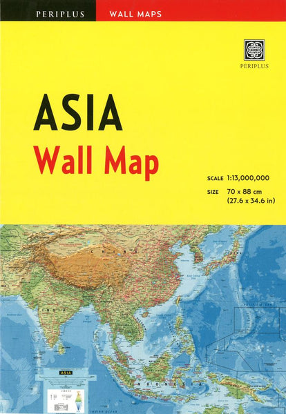 Buy map Asia Wall Map by Periplus Editions
