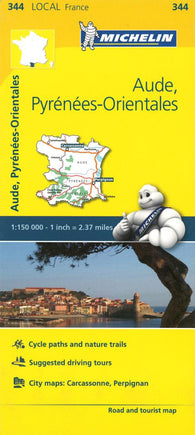 Buy map Aude, Pyrenees Orientales (344) by Michelin Travel Partner