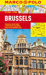 Buy map Brussels, Belgium by Marco Polo Travel Publishing Ltd