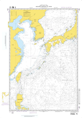 Buy map North Pacific Ocean - Western Portion Of Japan (NGA-509-4) by National Geospatial-Intelligence Agency