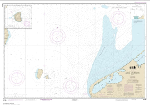 Buy map Bering Strait North; Little Diomede Island (16190-1) by NOAA