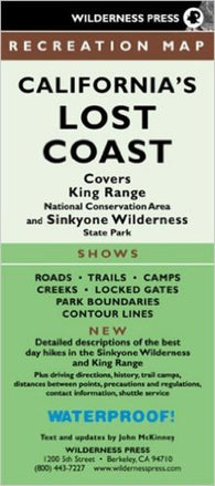 Buy map Lost Coast, California Trails and King Range/Sinkyone by Wilderness Press