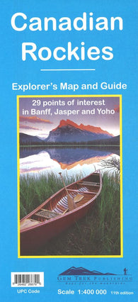 Buy map Canadian Rockies (Banff, Jasper, Yoho) Explorers Map and Guide by Gem Trek