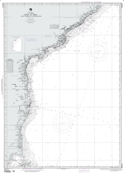 Buy map Calimere Point To Kalingpatam (Indian Ocean) (NGA-63015-11) by National Geospatial-Intelligence Agency