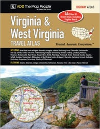 Buy map Virginia and West Virginia, Travel Atlas by Kappa Map Group
