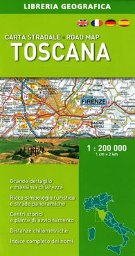 Buy map Tuscany/Toscana, Road Map by Libreria Geografica