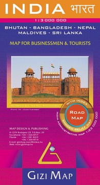 Buy map India Road Map by GiziMap
