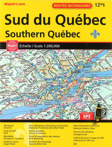Buy map Southern Québec Back Road Atlas by Canadian Cartographics Corporation