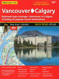Buy map Vancouver to Calgary Back Road Atlas by Canadian Cartographics Corporation