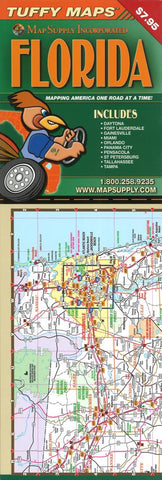 Buy map Florida, Laminated Tuffy Map with City Insets by Tuffy Maps