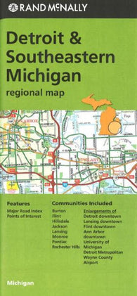 Buy map Detriot and Southeastern Michigan by Rand McNally