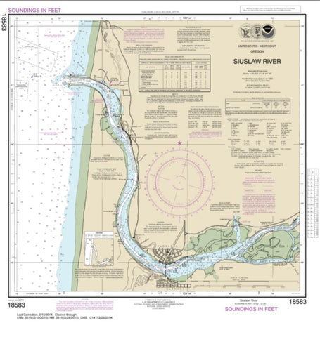 Buy map Siuslaw River (18583-40) by NOAA
