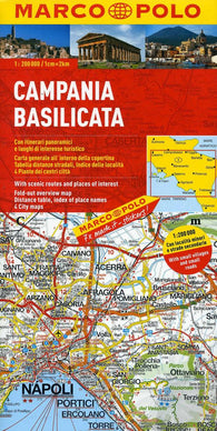 Buy map Campania and Basilicata, Italy by Marco Polo Travel Publishing Ltd