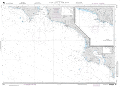 Buy map Punta Guiones To Punta Burica (NGA-21560-33) by National Geospatial-Intelligence Agency