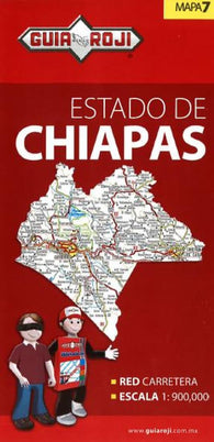 Buy map Chiapas, Mexico, State Map by Guia Roji