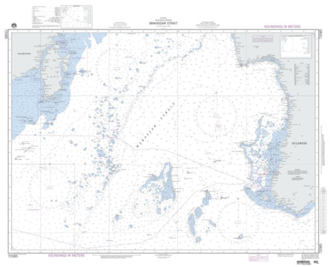 Buy map Indonesia - Makassar Strait - Southern Portion (NGA-72085-3) by National Geospatial-Intelligence Agency