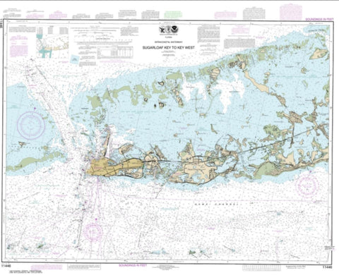 Buy map Intracoastal Waterway Sugarloaf Key To Key West (11446-33) by NOAA
