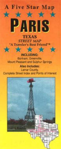 Buy map Paris, Texas by Five Star Maps, Inc.