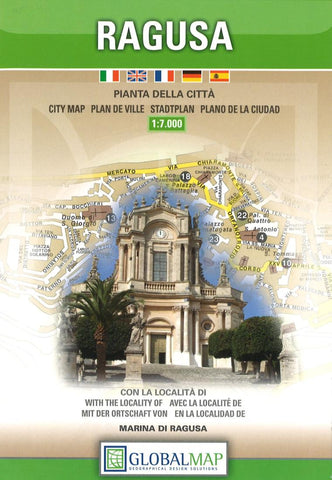 Buy map Ragusa, Italy by Litografia Artistica Cartografica
