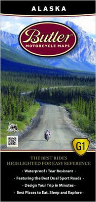 Buy map Alaska Motorcycle Map by Butler Motorcycle Maps